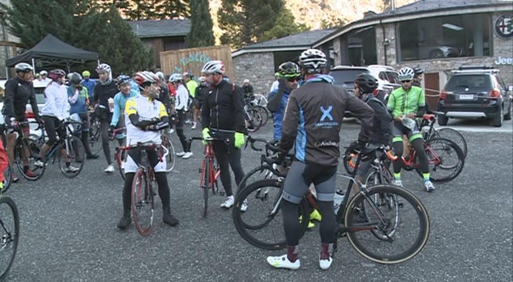 """Una setantena de participants a la 4a marxa cicloturista """"Si vols, pots"""""""