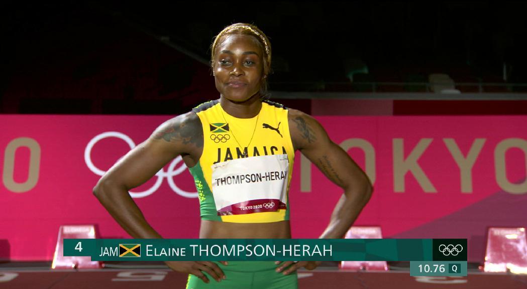 Triplet jamaicà i rècord olímpic als 100 metres llisos femenins