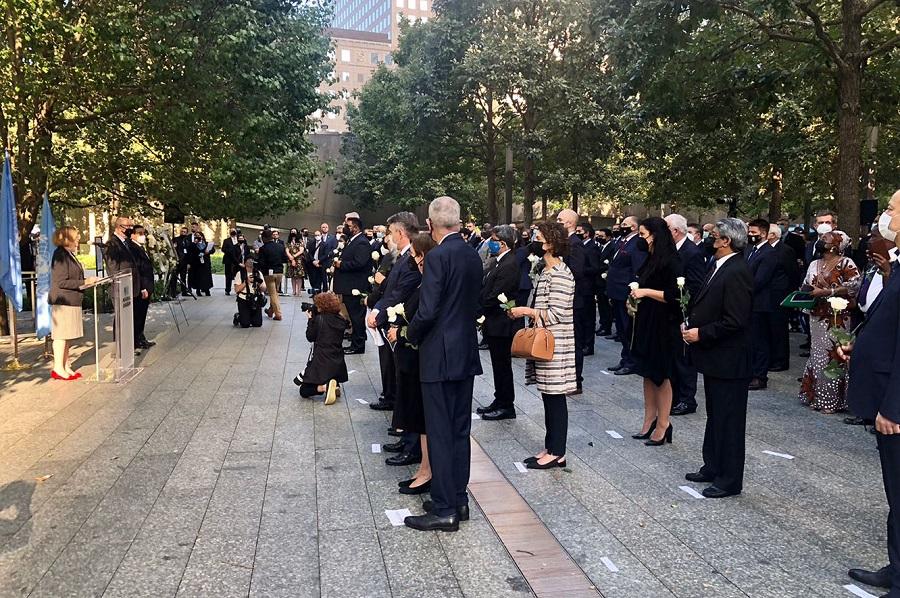 Ubach assisteix al 20e` aniversari de l'atemptat de l'11 de setembre organitzat per Nacions Unides
