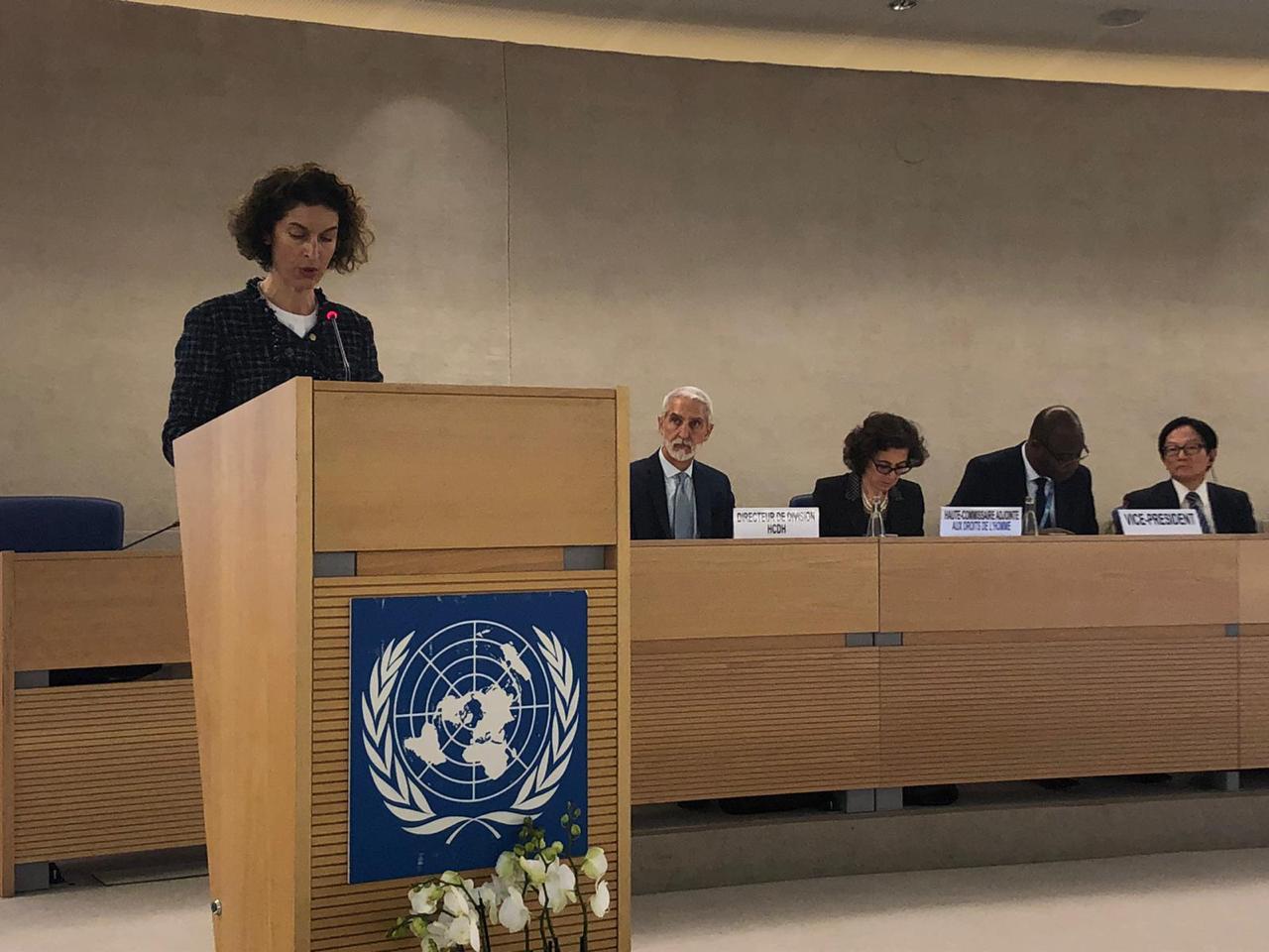 Ubach referma el compromís d'Andorra amb el multilateralisme i altres temes en el Consell de Drets Humans de l'ONU a Ginebra
