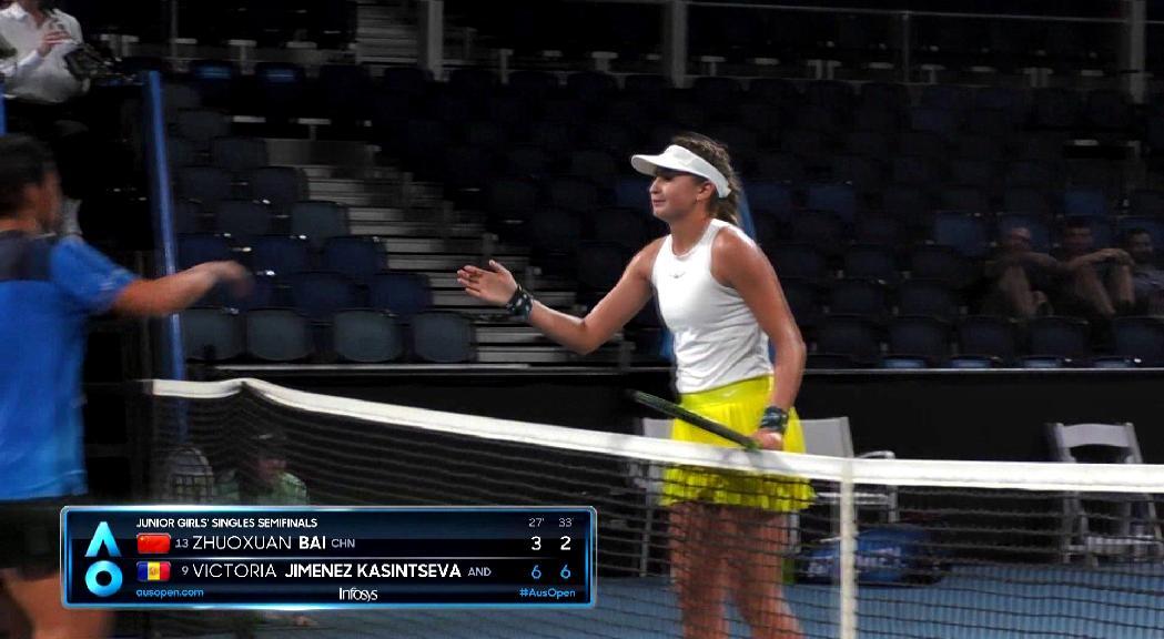 Vicky Jiménez  fa història i jugarà la final de l'Open d'Austràlia júnior