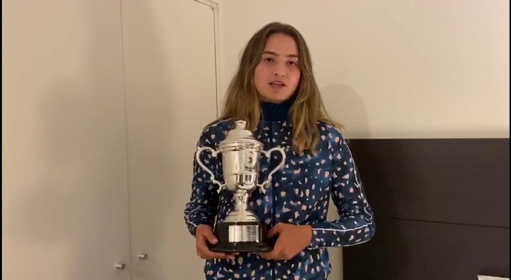 """Vicky Jiménez: """"Per mi aquest torneig és impressionant i estic orgullosa d'haver-lo guanyat"""""""