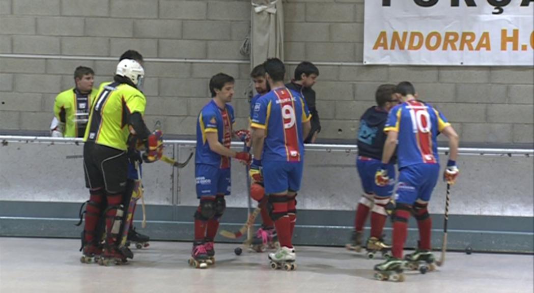 La victòria de l'Andorra HC davant l'Espanyol (5 a 2) el situa a un punt del play-off