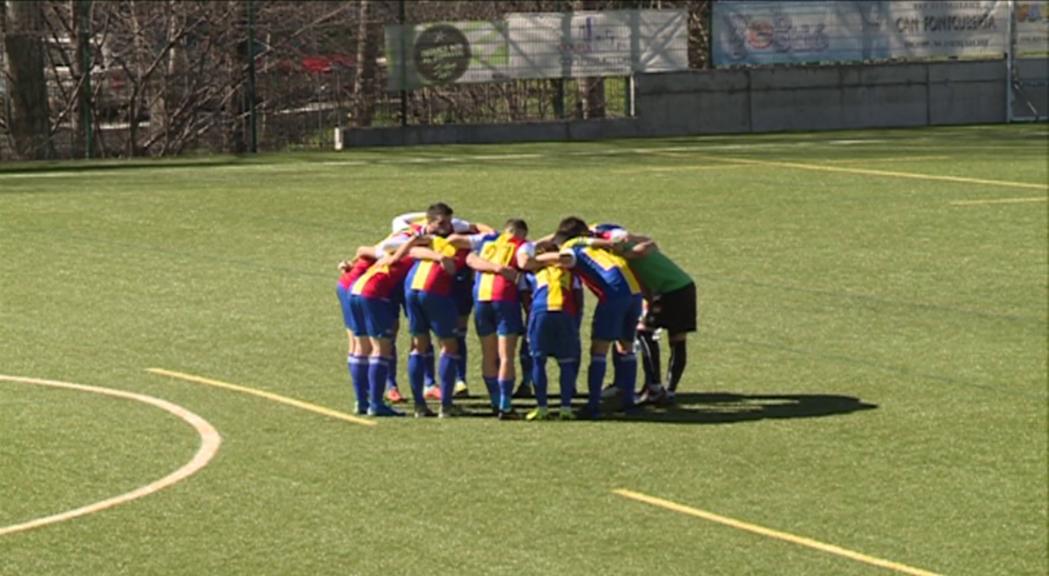 Victòria de pes de l'Andorra davant l'Almacelles amb un solitari gol de Forgas