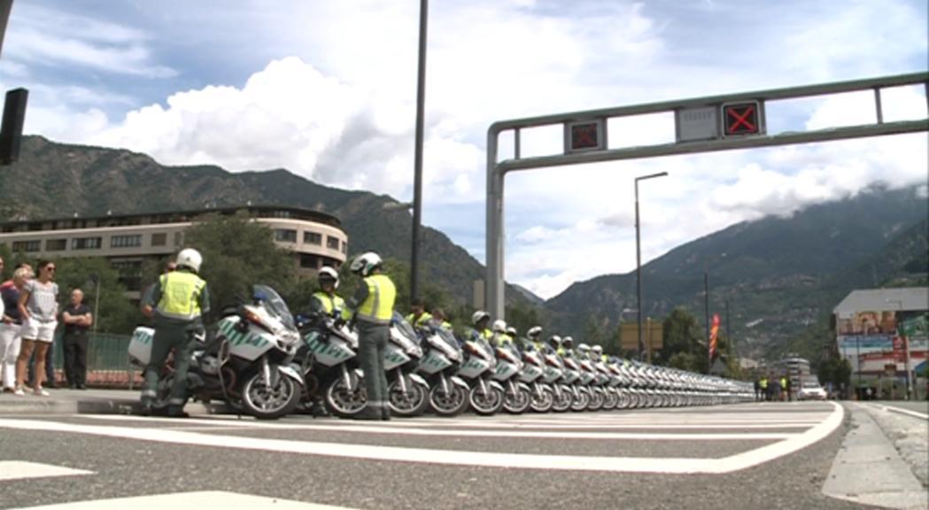 Una vuitantena d'efectius de la guàrdia civil espanyola donaran suport a la policia per la Vuelta