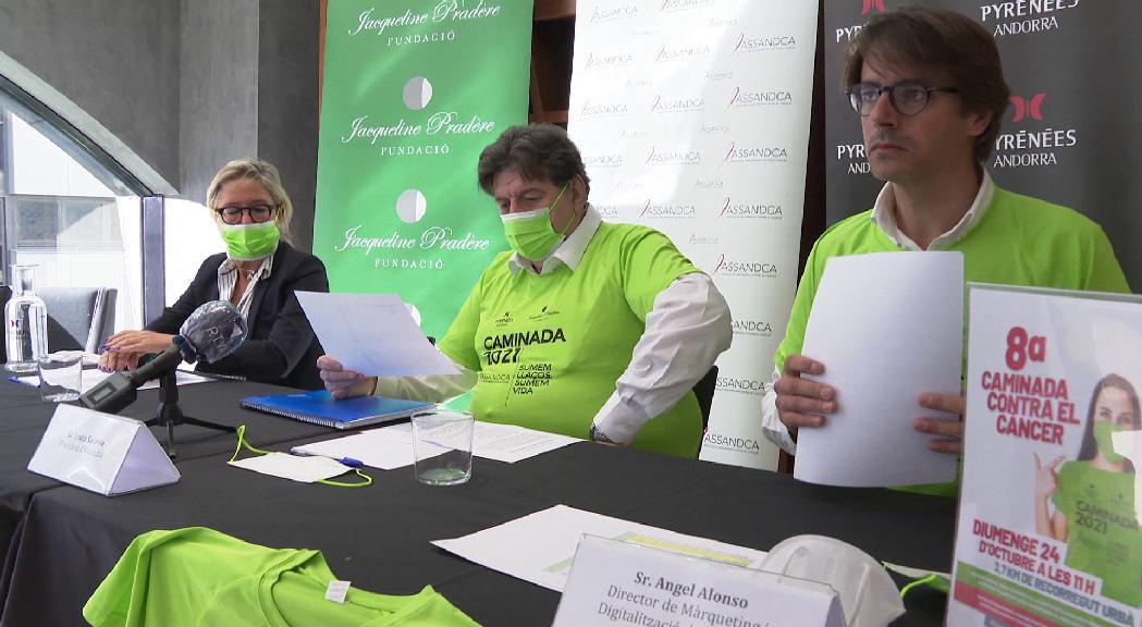 La vuitena caminada contra el càncer recorrerà prop de 4 km el 24 d'octubre