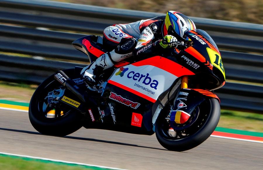Xavi Cardelústorna al Mundial de Moto2 amb la 21a posició al Gran Premi de l'Aragó