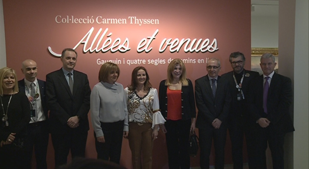 La baronessa Thyssen encapçala la primera visita d''Alleés et venues' al Thyssen Andorra