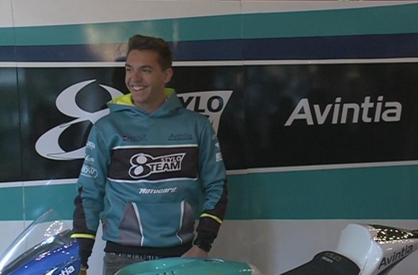 El pilot de Moto 2 Xavi Cardelús funciona en moll. Aquesta