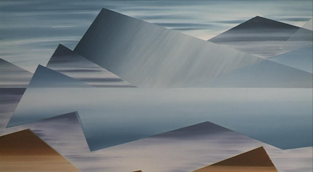 Vanda Drouin explora les formes en la seva primera mostra artística