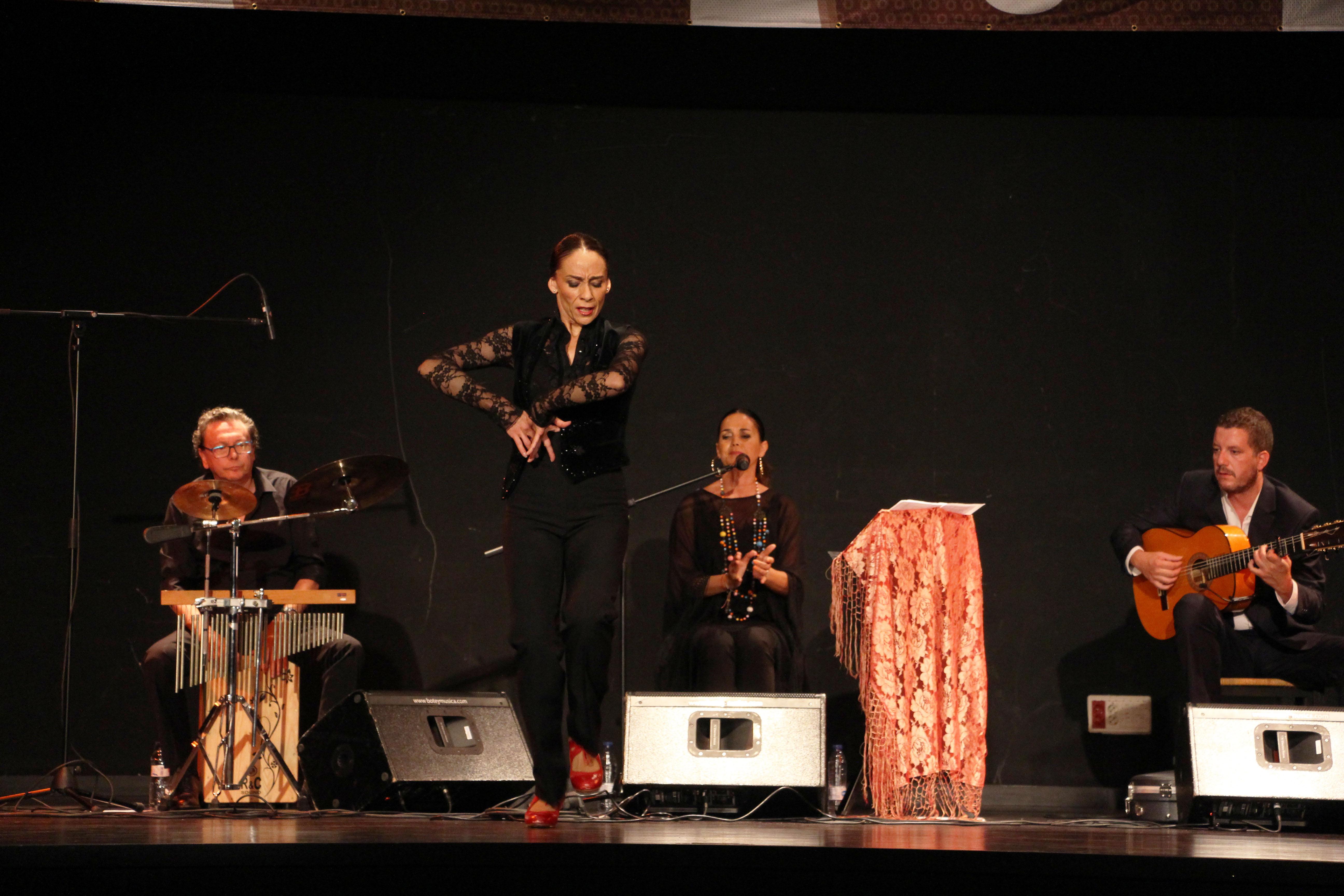 La 'cantaora' Sonia Miranda ha actuat aquest dimecres al