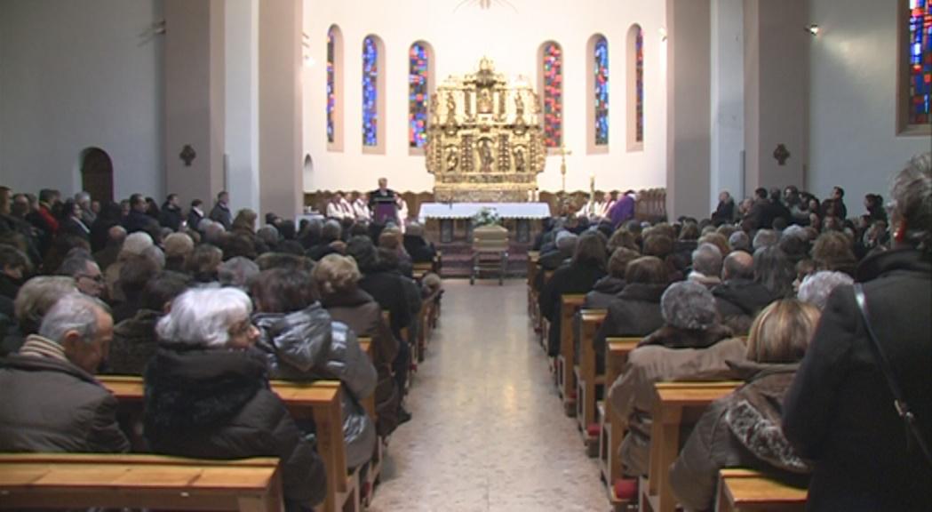 L'església d'Andorra la Vella es queda petita per acomiadar Rosa Ferrer