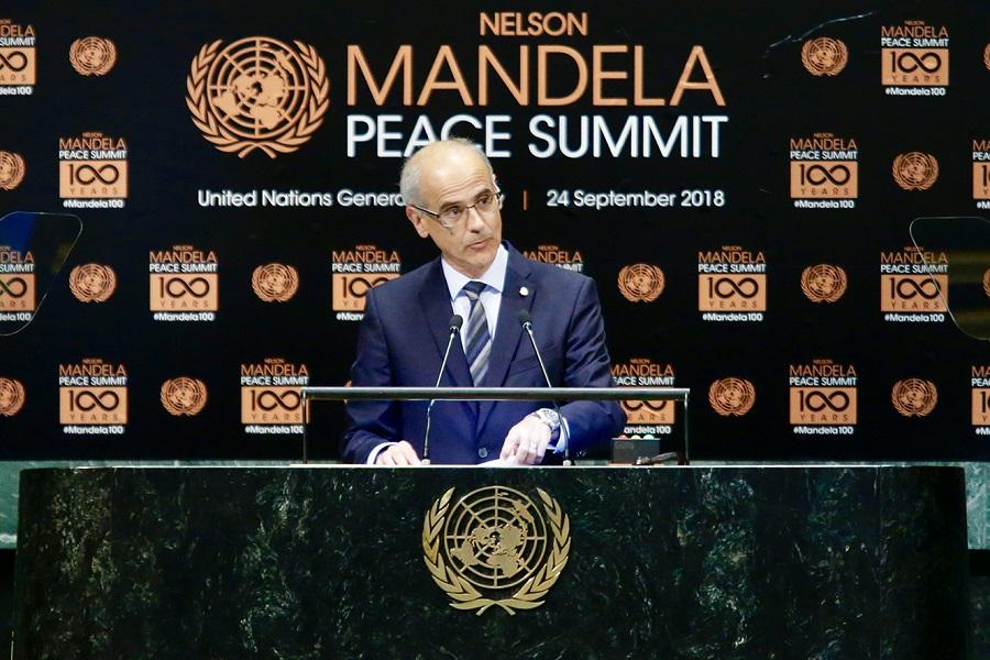 Martí defensa els valors de la democràcia a la Cimera de la Pau Nelson Mandela