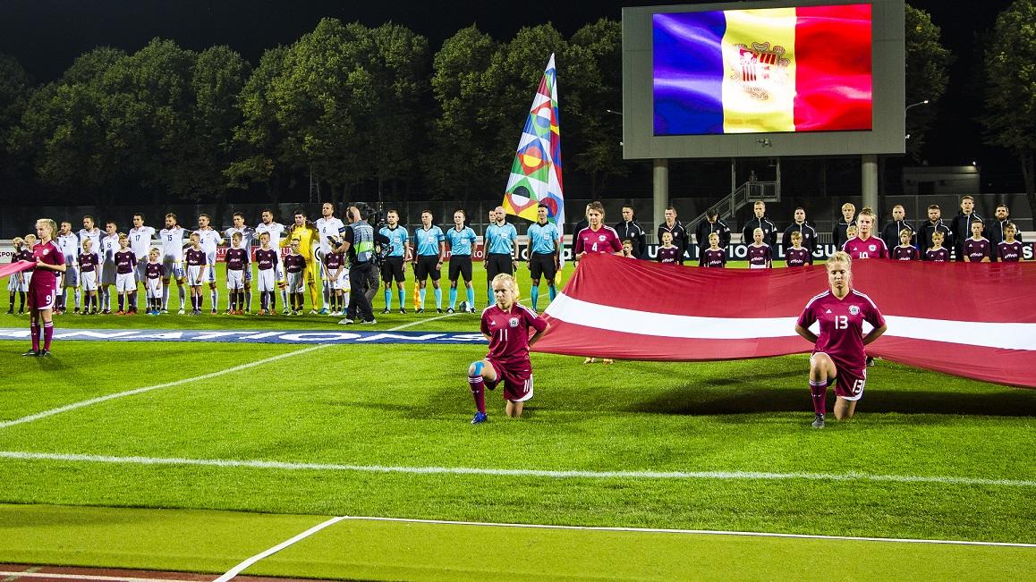 Andorra allarga el moment dolç i debuta a la lliga de les Nacions amb un empat contra Letònia