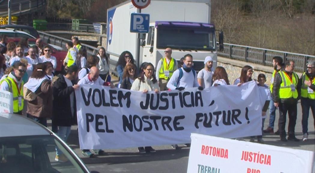 El treballadors del Punt de Trobada, en desacord amb la rotonda proposada per Govern