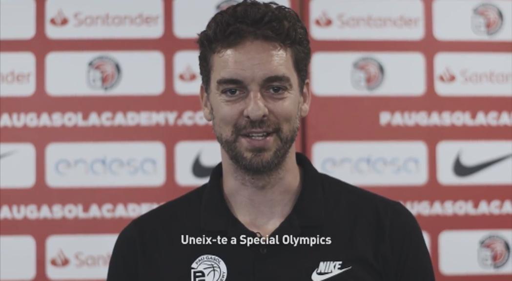 Special Olympics 2018 fa una crida per reclutar voluntaris amb l'ajut de Pau Gasol