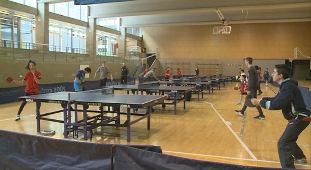 Clínic de tecnificació de tennis taula amb l'Esparraguera