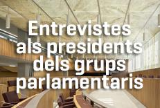 Mesures Covid-19: Entrevistes als presidents dels grups parlamentaris