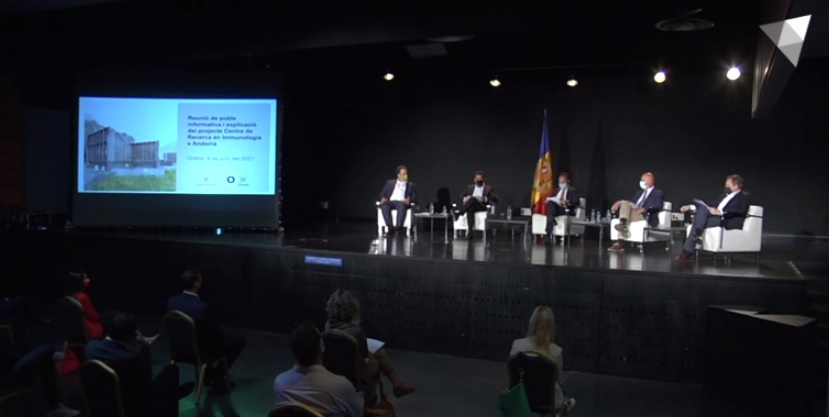 Reunió informativa del projecte Centre de Recerca en Immunologia de Grifols a Ordino