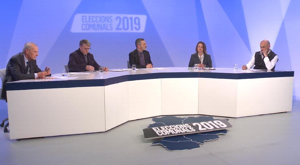 Els candidats d'Escaldes-Engordany discuteixen sobre l'habitatge, el Clot d'Emprivat i la vall del Madriu en el debat d'ATV