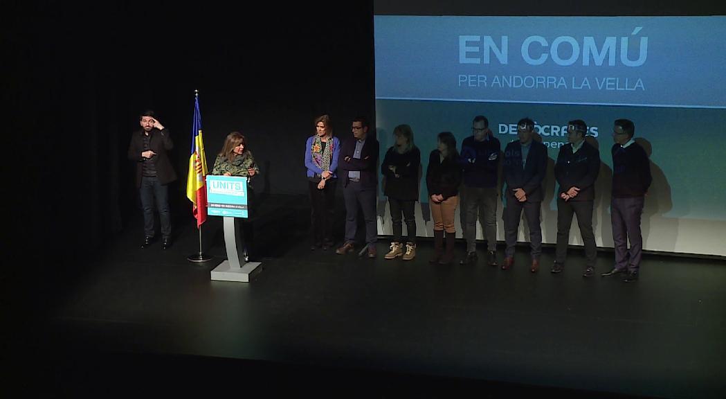 En Comú per Andorra la Vella treu pit per la feina feta en el míting final de campanya