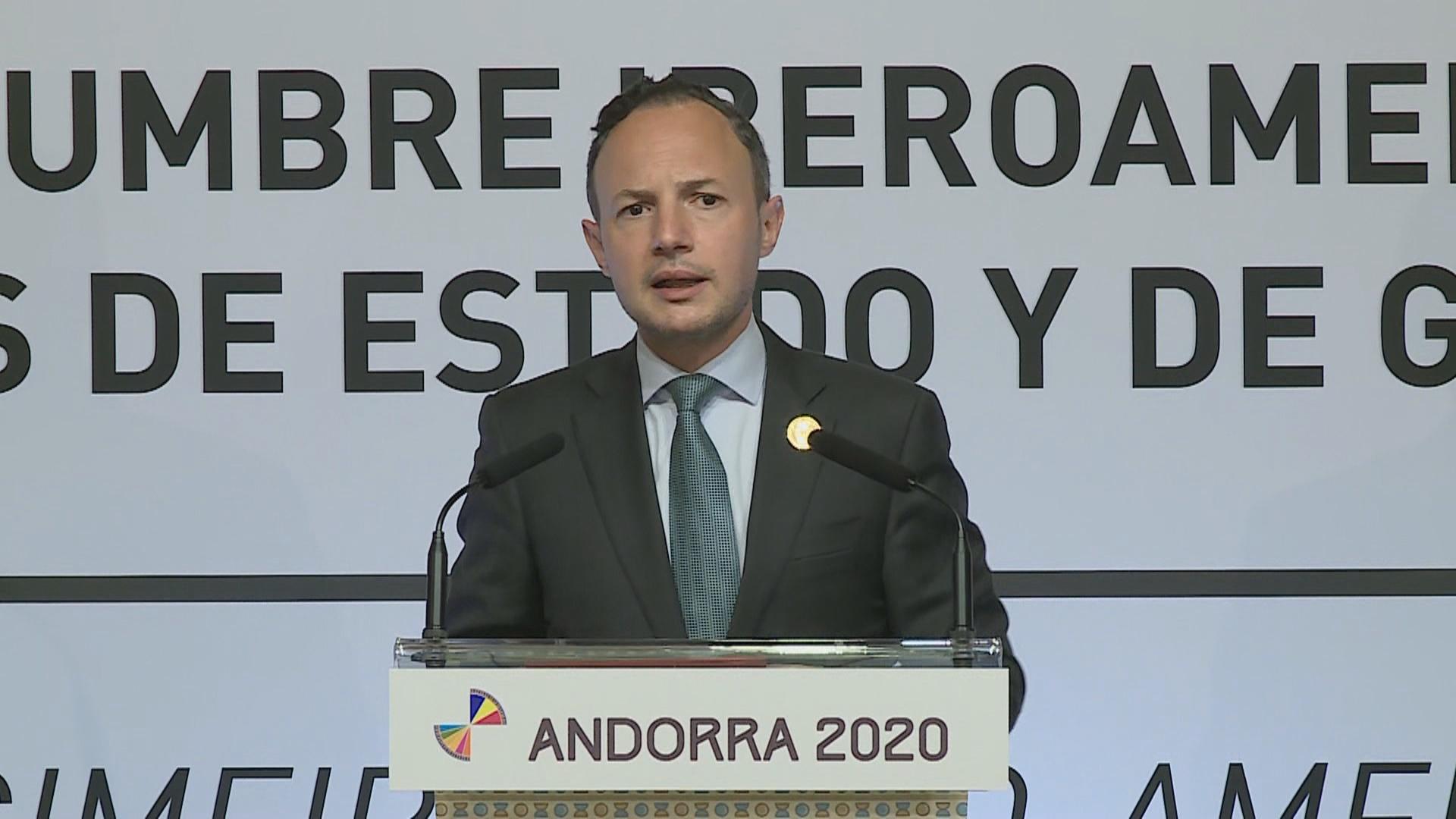 Roda de premsa de balanç de la XXVII Cimera Iberoamericana de caps d'Estat i de Govern Andorra 2020