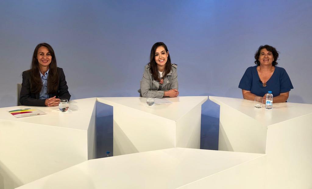 Tertúlia amb les membres d'Acció Feminista Marisol Fuentes, Íngrid Blanc i Antònia Escoda