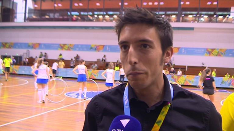 Igor Esteve, l'àrbitre andorrà que ha dirigit el partit de bàsquet per l'or