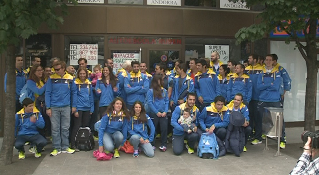 La delegació andorrana emprèn el viatge a Islàndia