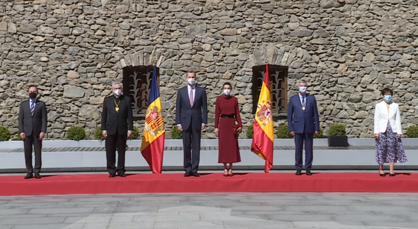 Els reis d'Espanya visiten la Casa de la Vall i el comú d'Andorra la Vella