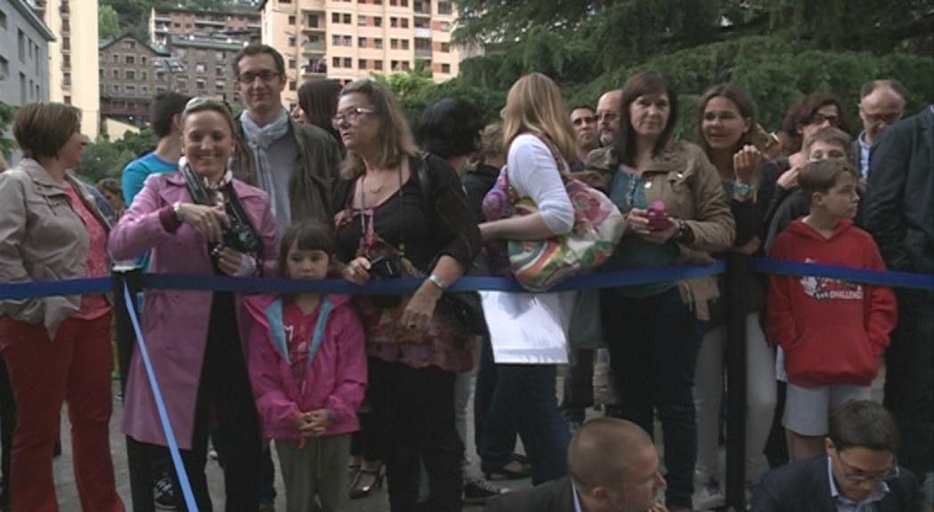 La visita d'Hollande a Escaldes-Engordany