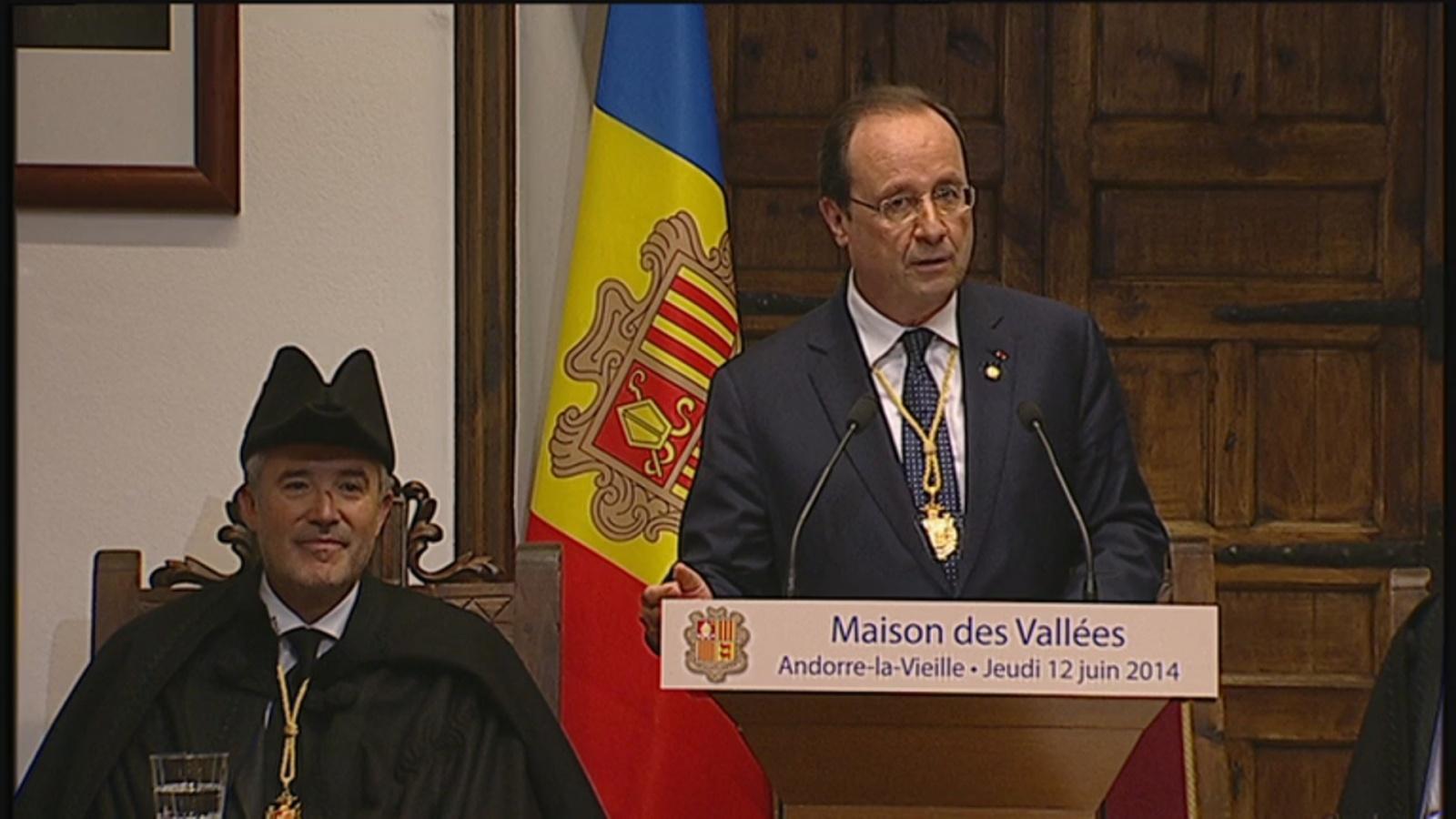 El discurs més polític del Copríncep francès a la Casa de la Vall