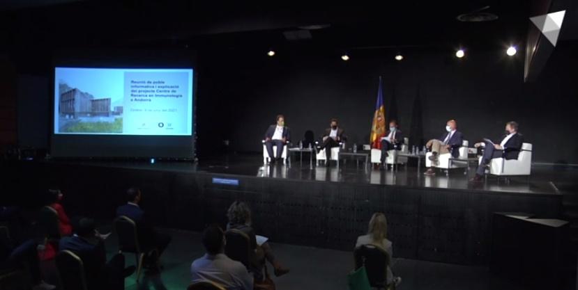 Reunió informativa del projecte per al Centre de Recerca en Immunologia de Grifols a Ordino