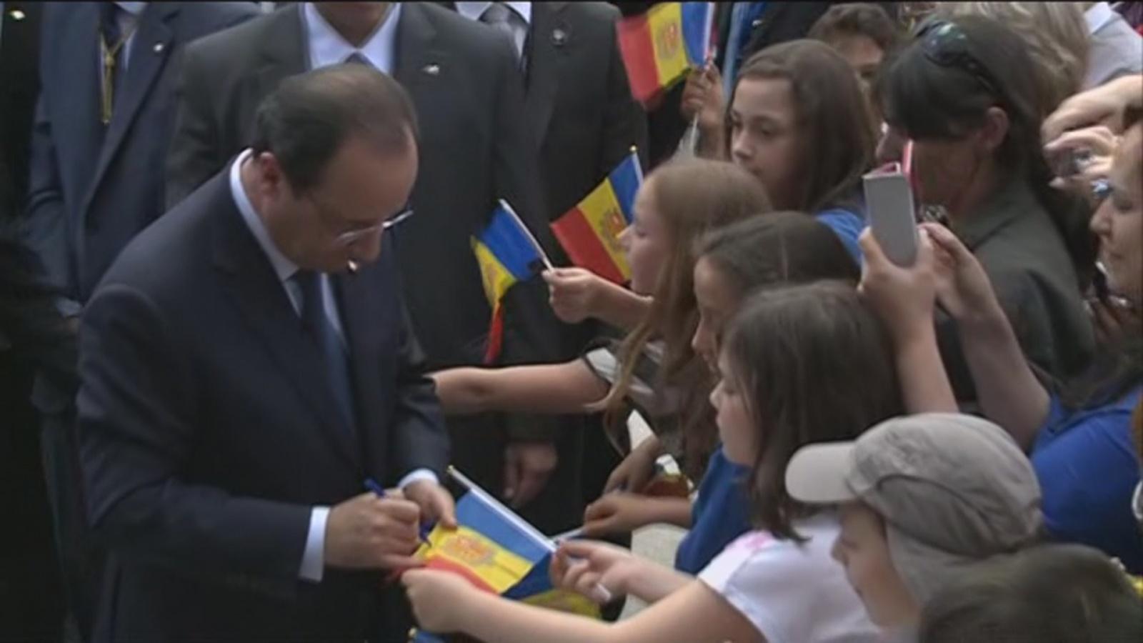 Hollande visita la parròquia d'Encamp