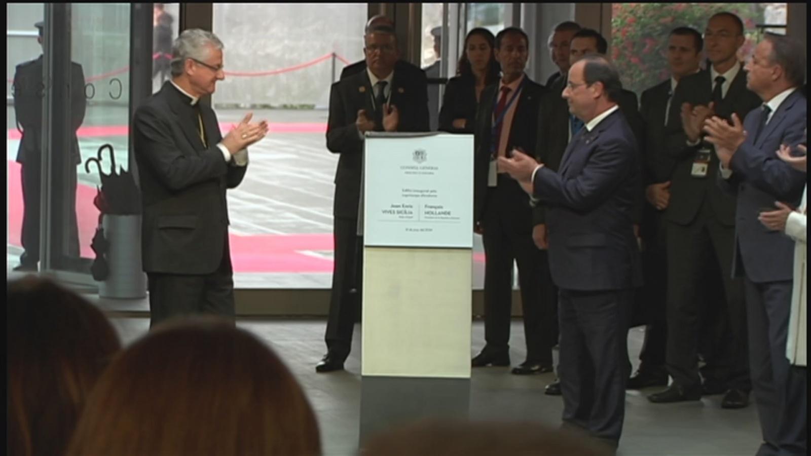 Els dos Coprínceps inauguren el Consell General