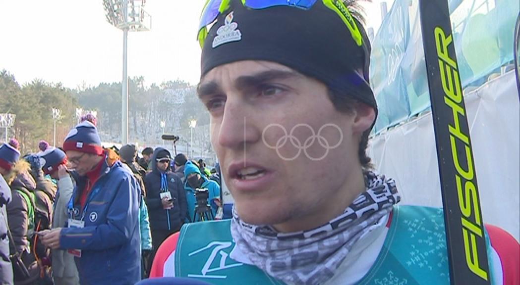 Les reaccions d'Irineu Esteve després de la gran actuació als 15 km estil lliure