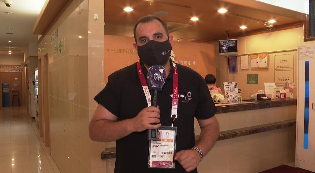 L'equip d'RTVA que cobreix els Jocs Olímpics de Tòquio fa tres dies de quarantena a l'hotel