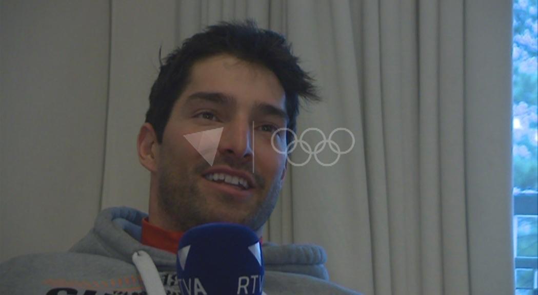 Bones sensacions de Lluís Marín abans de l'estrena a PyeongChang