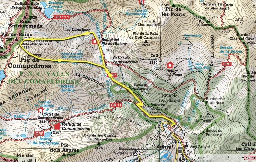 La volta Maria: Pic del Comapedrosa, la canal del Canut