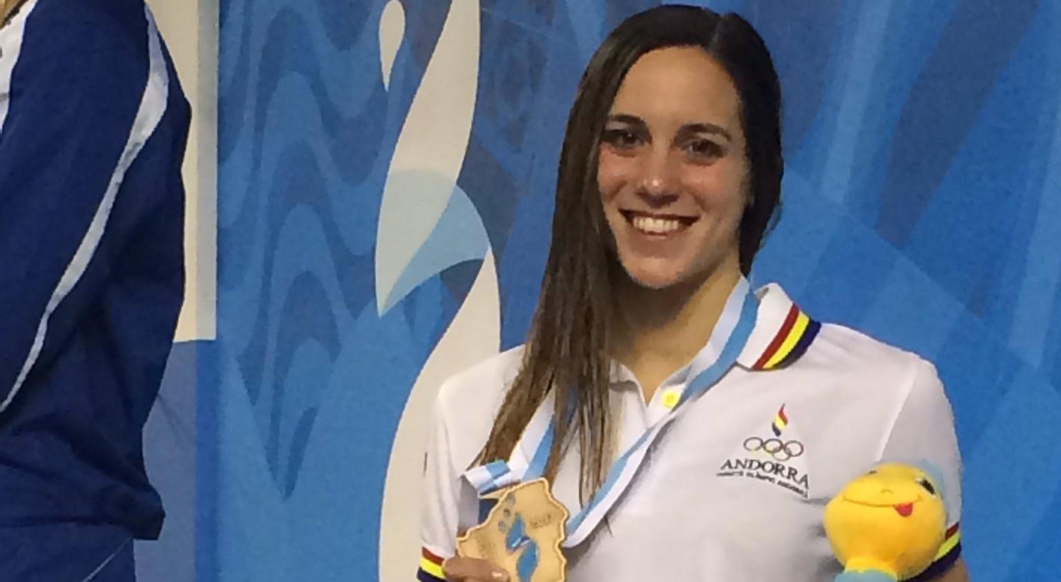 Mònica Ramírez, sorpresa pel seu bronze als 200 metres esquena