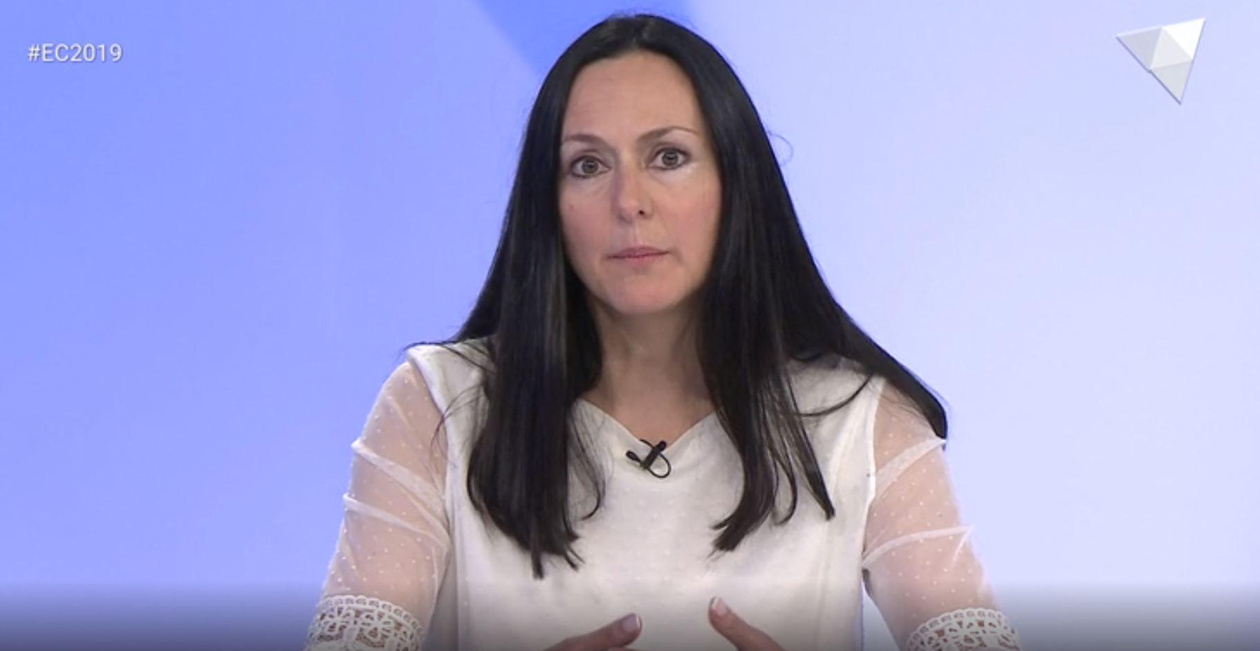 Entrevista a ATV a la cap de llista de La Massana