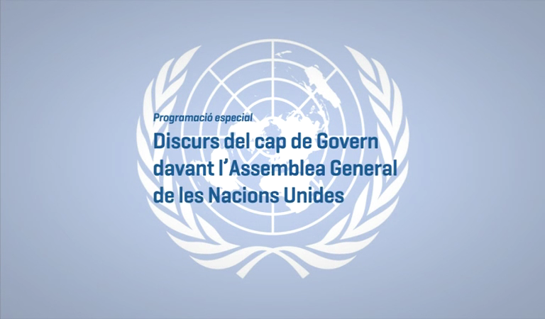 Discurs del cap de Govern a la 71a Assemblea General de l'ONU