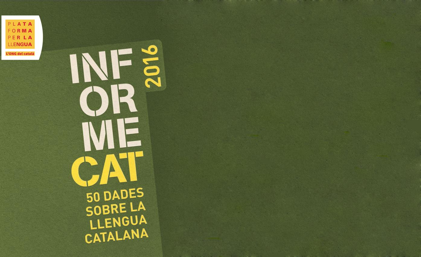 Pedigrí català: l'InformeCAT 2016