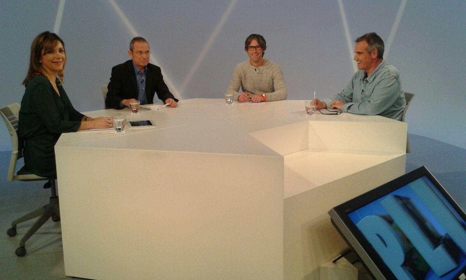 Tertúlia amb els periodistes Ignasi de Planell, Enric Guinart i Albert Roig