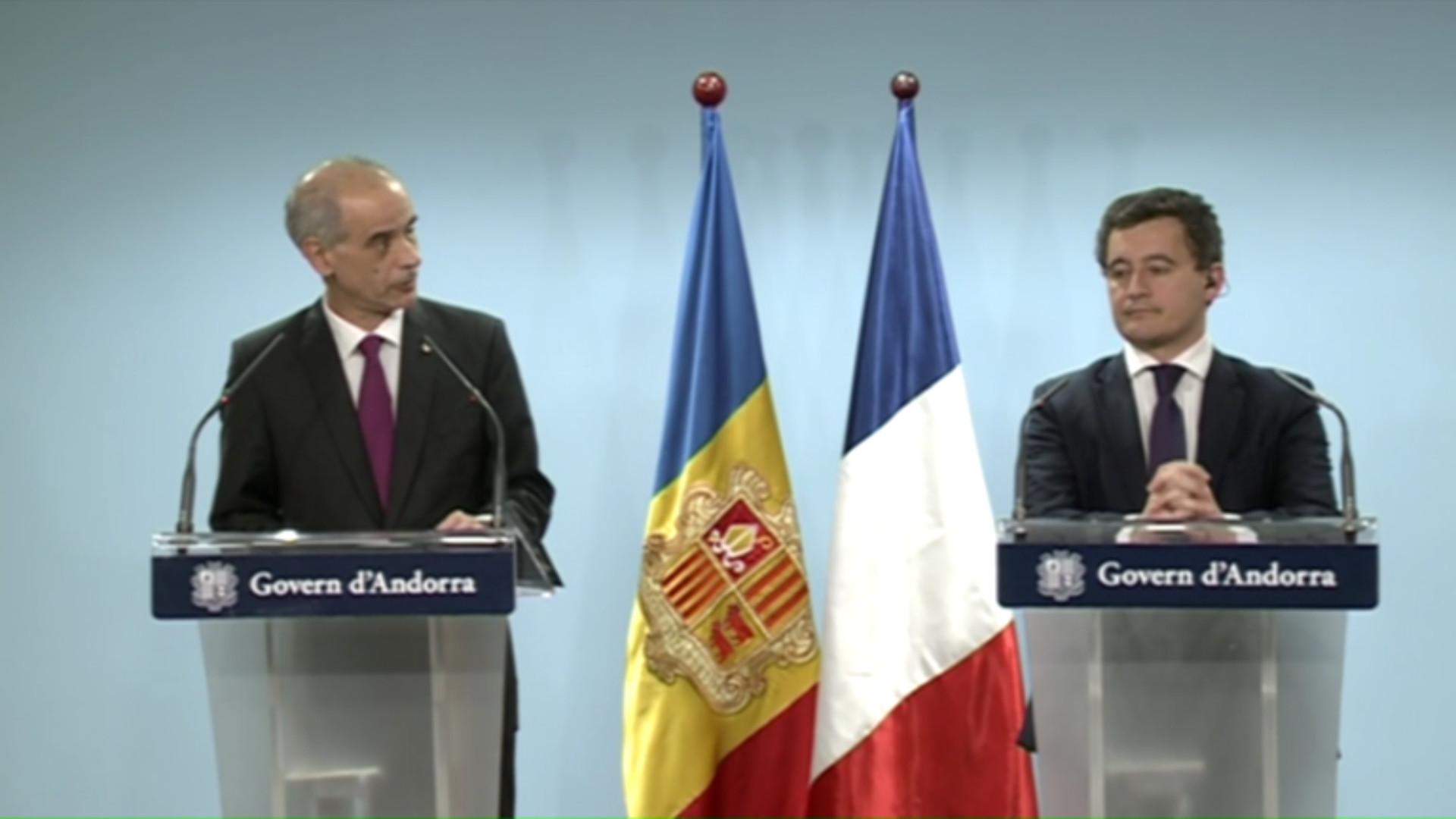 Roda de premsa del ministre francès d'Acció i Comptes Públics i el cap de Govern
