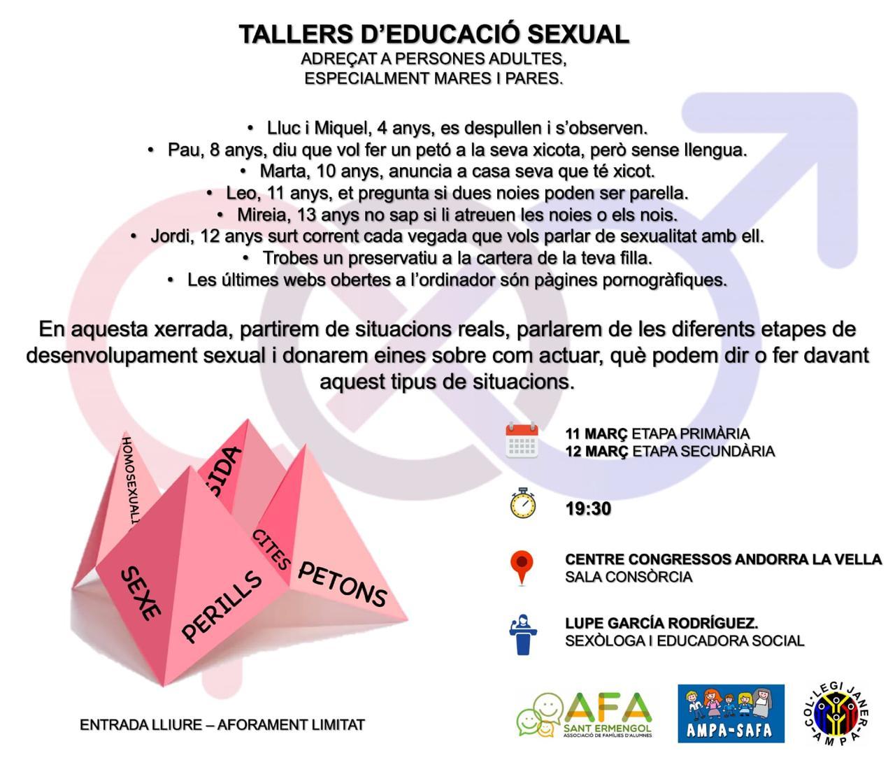 Tallers d'educació sexual