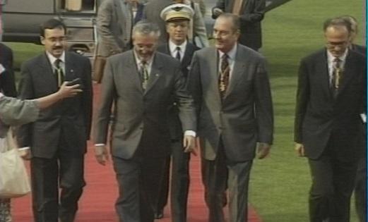Les visites de de Gaulle, Giscard d'Estaing. Mitterrand i Chirac