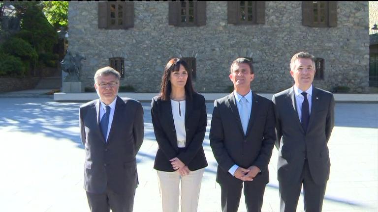 Els Síndics reben el primer ministre francès a Casa de la Vall