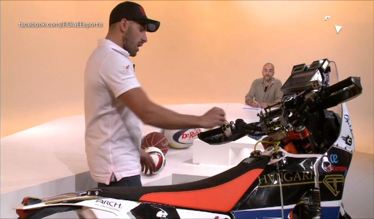 Dia E 2a part - Cristian España ens porta la moto amb què competirà al Dakar