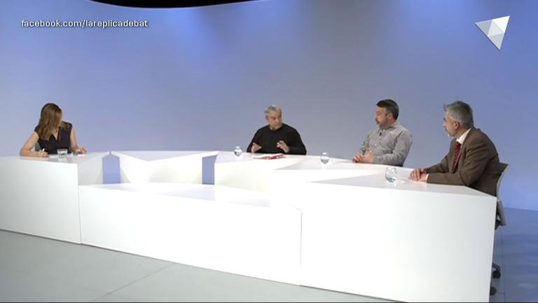 Taula rodona per analitzar la vaga dels funcionaris, amb Josep Duró, Juli Fernández i Ricard de Haro